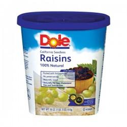 Dole  Raisin Seedless , 18 Oz. Canister