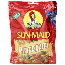 Sun Maid Pitted Dates, 8-Ounce Pouches