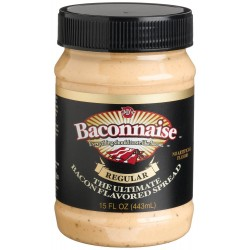 J&d's Baconnaise Bacon Flavored Spread, Regular, 15-ounce Jar