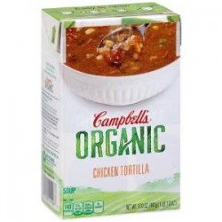 Campbell's, Organic Soups, 17 Oz  Carton,Chicken Tortilla Organic
