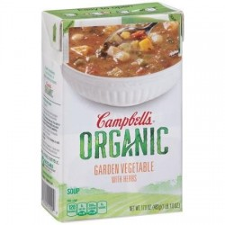Campbell's, Organic Soups, 17 Oz Carton, Garden Vegetable with Herbs Organic