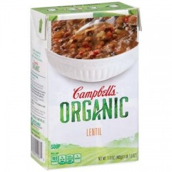 Campbell's, Organic Soups, 17 Oz. Carton, Lentil Organic