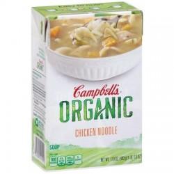 Campbell's, Organic Soups, 17 Oz.  Carton, Chicken Noodle Organic)