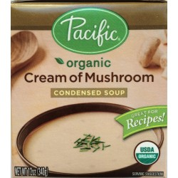 Pacific Natural Foods Organic Cream of Mushroom Condensed Soup, 12 Oz.  Boxes