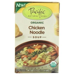 Pacific Natural Foods Organic Chicken Noodle Soup, 17.6-Ounce Boxes