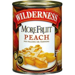Wilderness More Fruit Peach Pie Filling and Topping, 21-Ounce