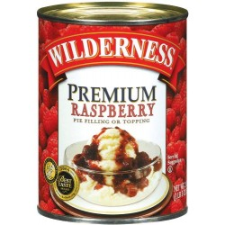 Wilderness Premium Fruit Raspberry Pie Filling and Topping, 21-Ounce