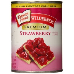 Wilderness Premium Pie Filling & Topping, Strawberry, 21 Ounce