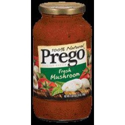 Prego 100% Natural Fresh Mushrooms Pasta Sauce 24 oz