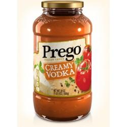 Prego Italian Pasta Sauce 23.5 oz Jar, Creamy Vodka