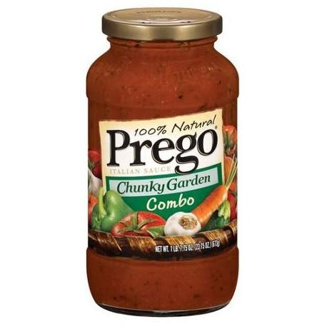 Prego Chunky Garden Combo Italian Sauce, 25.75 oz