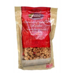Open Nature 100% Natural, Strawberry Vanilla Splendor Granola Cereal, 12 Ounce Bags