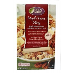 Open Nature 100% Natural, Maple Pecan Flakes and Clusters Cereal, 12.5 Ounce Boxes