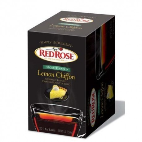 Red Rose Simply Indulgent Decaffeinated Lemon Chiffon 20 Ct. [Pack of 3]