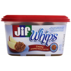 Jif Whips Creamy Whipped Peanut Butter  15 Oz.