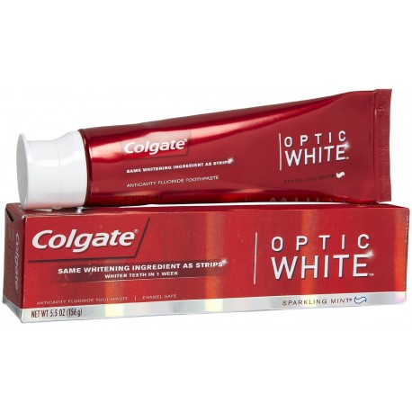 Colgate Optic White Acticavity Fluoride Toothpaste Sparkling Mint 5.5 oz