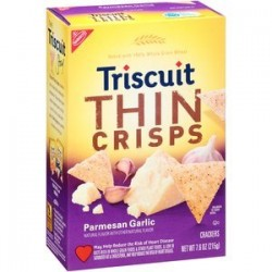 Triscuits Thins Crisps, Parmesan Garlic, 7.6-Ounce