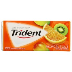 Trident Gum, Tropical Twist, 3 - 18 Stick Package