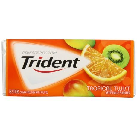 Trident Gum, Tropical Twist, 3 - 18 Stick Package