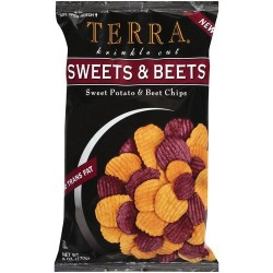 Terra Vegetable Chips - Sweet Potato & Beet Chips, all-natural exotic vegetable, 100% natural. 6 OZ