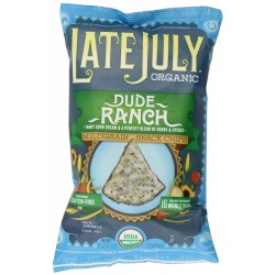 Late July Organic Snacks Dude Ranch Multigrain Tortilla Chips, 5.5-Oz.