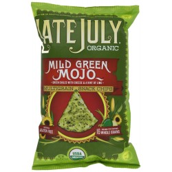 Late July organic Snacks Mild Green Mojo, Multigrain Tortilla Chips, 5.5-OZ