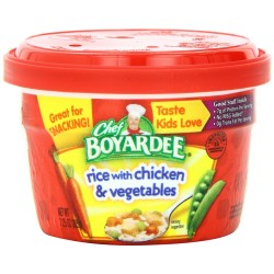 Chef Boyardee Rice with Chicken & Vegetables, 7.25 Oz Microwavable Bowls