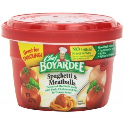 Chef Boyardee Spaghetti & Meatballs in Tomato Sauce, 7.5-Oz. Microwavable Bowl