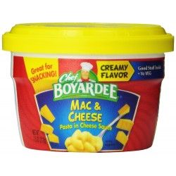 Chef Boyardee Macaroni and Cheese, 7.5-Ounce Microwavable Bowls
