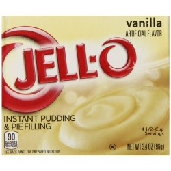 Jell-O Instant Pudding and Pie Filling, Vanilla, 3.4-Ounce Boxes