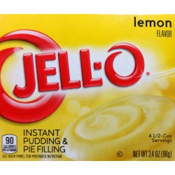 Jell-O Lemon Flavor Instant Pudding & Pie Filling, 3.4 Oz