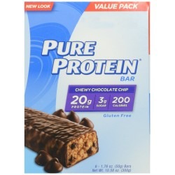 Pure Protein Chewy Chocolate Chip Bar, 6 Count