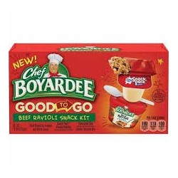 Chef Boyardee Good to Go Snack Kit 11.84 Oz, Beef Ravioli