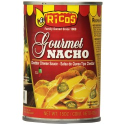 Ricos Gourmet Nacho Cheddar Cheese Sauce with Jalapenos ,15 oz Cans