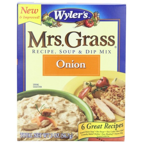 Mrs. Grass Recipe Soup & Dip Mix, Onion, 2 Ounce