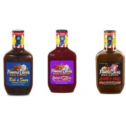 Famous Dave's BBQ Sauce Variety Pack - Devil's Spit, Sweet & Zesty, and Rich & Sassy