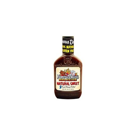 Famous Dave's Natural Sweet Gluten Free BBQ Sauce 20 Ounce