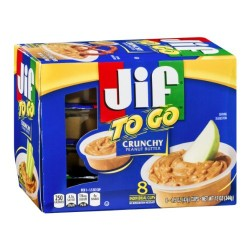 Jif, Jif To Go, Crunchy Peanut Butter Cups, 8 Count, 12 Oz Box