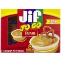Jif to Go Creamy Peanut Butter 8 - 1.5 ounce Cups Net Wet 12 Oz