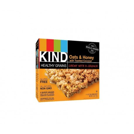 Kind Healthy Grains Granola Bars, Oats & Honey with Toasted Coconut, 1.2 Oz. Bars, 5 Count