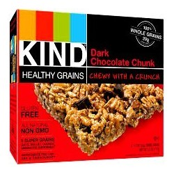 KIND, Healthy Grains Granola Bars, DARK CHOCOLATE CHUNK, 5 count box