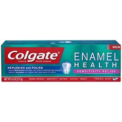 Colgate Enamel Health Sensitivity Relief Toothpaste, Fresh Mint Gel, 4 Ounce