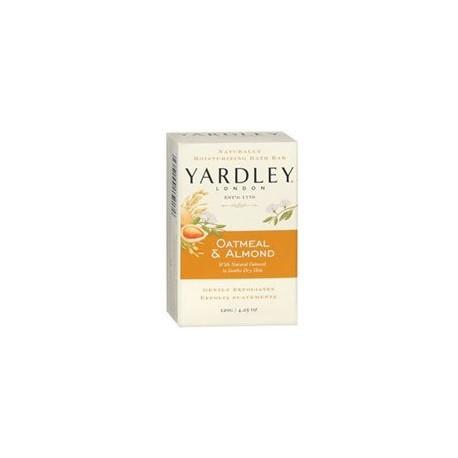 Yardley Naturally Moisturizing Bath Bar 4.25 oz ea, Oatmeal & Almond, 4 Pack