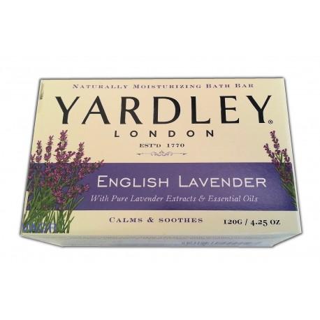 Yardley Moisturizing Bar Naturally, Flowering English Lavender 4.25 Oz