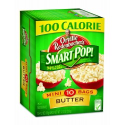 Orville Redenbacher Smart Pop Butter Popcorn Mini Bags, 10-Count