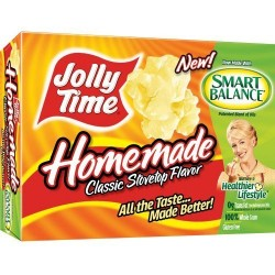 Jolly Time HomemadeWith Real Butter Butter Microwave Popcorn, 3-Count Boxes, 9 oz