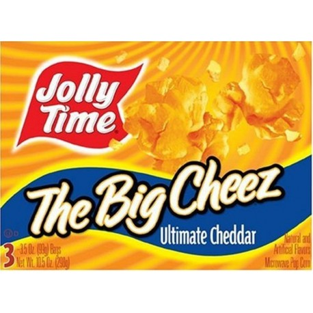 Jolly Time the Big Cheez Cheddar Cheese Microwave Popcorn, 3-count Boxes
