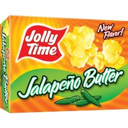 Jolly Time Butter Spicy Microwave Popcorn, Jalapeno Butter, 3-Count Boxes