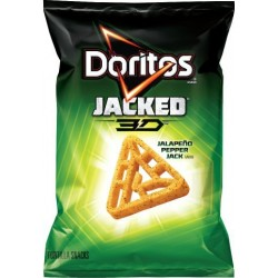 Frito Lay, Doritos, Jacked, 3D, Jalapeno Pepper Jack, 11.5 oz Bag