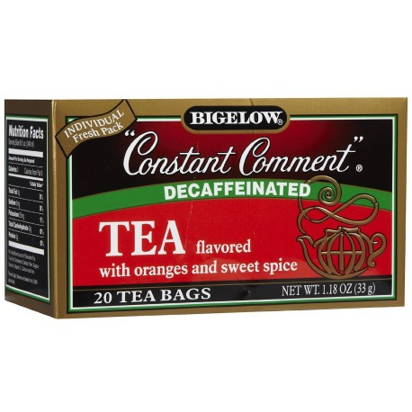 Bigelow Tea, 20 Bags - Constant Comment Decaffeinated (3 Pack)